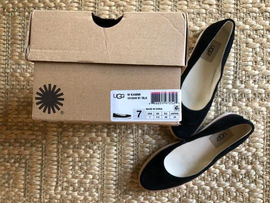 UGG Australia Suede New In Box Never Worn Black Flats Image 1