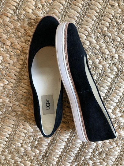 UGG Australia Suede New In Box Never Worn Black Flats Image 2