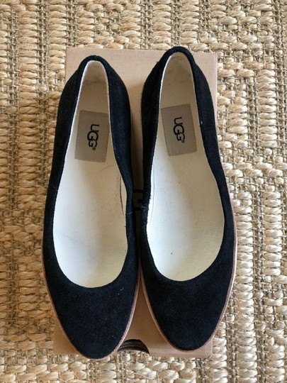 UGG Australia Suede New In Box Never Worn Black Flats Image 3