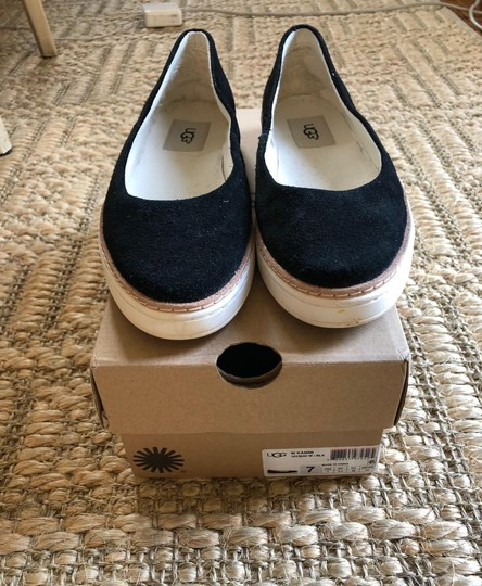 UGG Australia Suede New In Box Never Worn Black Flats Image 4