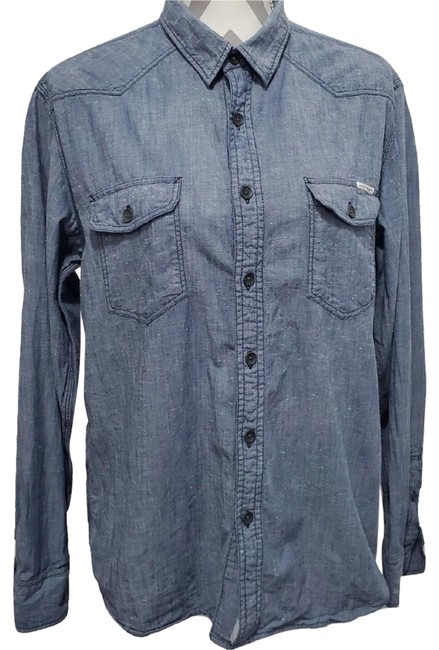 Preload https://img-static.tradesy.com/item/25779103/lucky-brand-blue-jeans-button-front-denim-shirt-button-down-top-size-8-m-0-1-650-650.jpg
