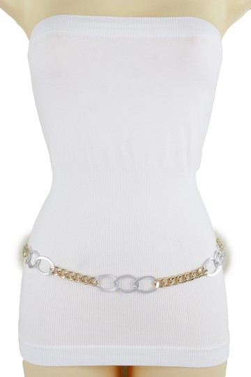 Alwaystyle4you Spqcial Women Fashion Belt Silver Gold Metal Chain Links Size M L XL Image 10