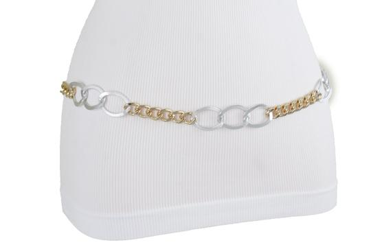 Alwaystyle4you Spqcial Women Fashion Belt Silver Gold Metal Chain Links Size M L XL Image 2
