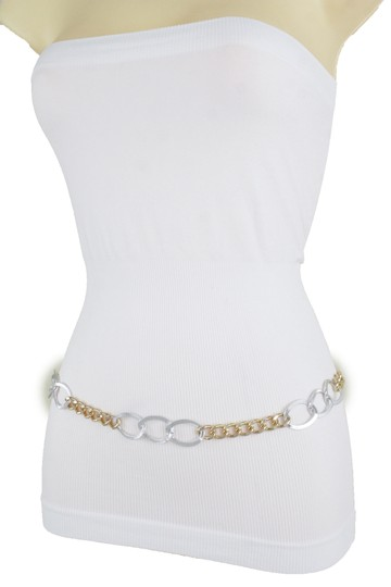 Alwaystyle4you Spqcial Women Fashion Belt Silver Gold Metal Chain Links Size M L XL Image 3