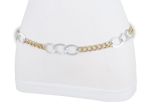 Alwaystyle4you Spqcial Women Fashion Belt Silver Gold Metal Chain Links Size M L XL Image 4