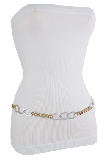 Alwaystyle4you Spqcial Women Fashion Belt Silver Gold Metal Chain Links Size M L XL Image 5