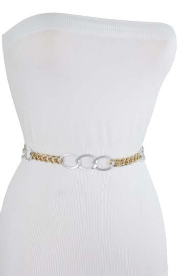 Alwaystyle4you Spqcial Women Fashion Belt Silver Gold Metal Chain Links Size M L XL Image 6