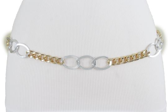 Alwaystyle4you Spqcial Women Fashion Belt Silver Gold Metal Chain Links Size M L XL Image 7