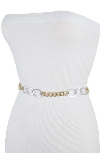 Alwaystyle4you Spqcial Women Fashion Belt Silver Gold Metal Chain Links Size M L XL Image 8