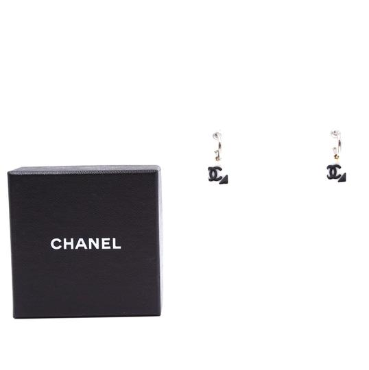Chanel RARE CC quilted Cambon dangle pierced stud earrings Image 2