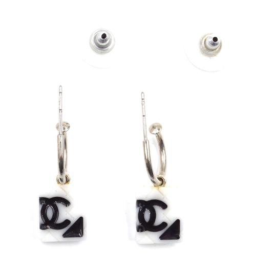 Chanel RARE CC quilted Cambon dangle pierced stud earrings Image 4