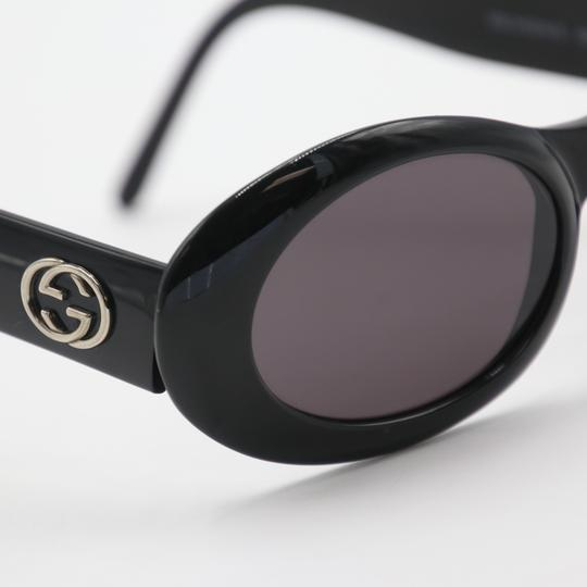 Gucci Oval Silver-tone GG Round Cat Eye Sunglasses 2400/N/S Image 5