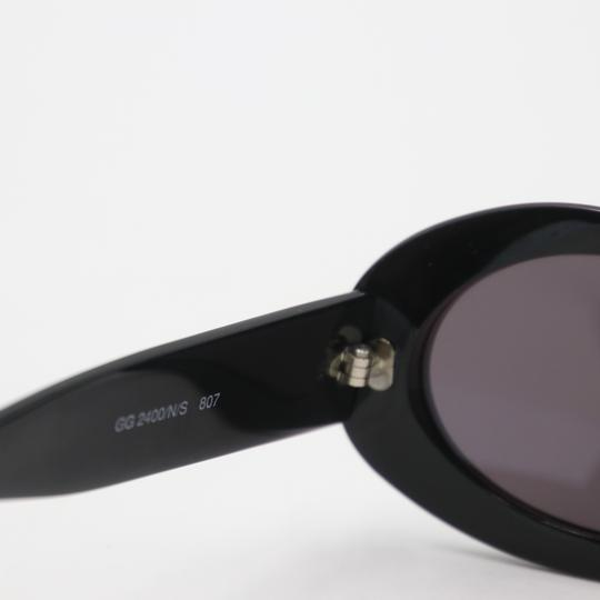 Gucci Oval Silver-tone GG Round Cat Eye Sunglasses 2400/N/S Image 7