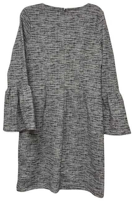 Item - Gray Print Bell Sleeve Mid-length Cocktail Dress Size 8 (M)