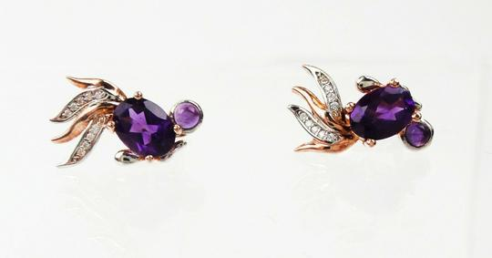 Other Feather Flares Amethyst & Accent Diamond Earrings Image 1