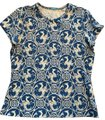 J.McLaughlin T Shirt Blue and white print Image 0