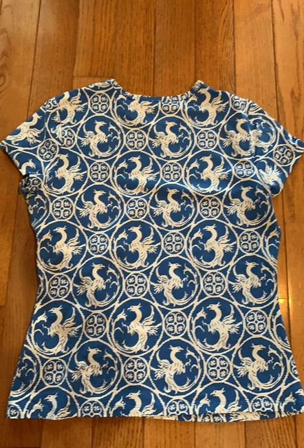 J.McLaughlin T Shirt Blue and white print Image 6