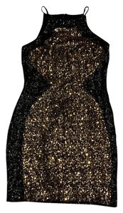 Dress the Population Sequin Party Holiday Gold Dress