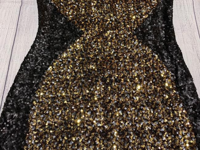 Dress the Population Sequin Party Holiday Gold Dress Image 1