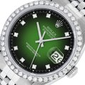 Rolex Mens Datejust Stainless Steel with Diamond Dial Watch Image 0