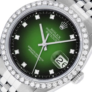 Rolex Mens Datejust Stainless Steel with Diamond Dial Watch