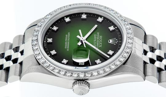 Rolex Mens Datejust Stainless Steel with Diamond Dial Watch Image 1