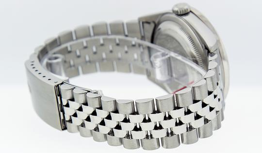 Rolex Mens Datejust Stainless Steel with Diamond Dial Watch Image 3