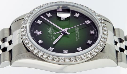 Rolex Mens Datejust Stainless Steel with Diamond Dial Watch Image 4