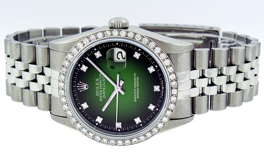 Rolex Mens Datejust Stainless Steel with Diamond Dial Watch Image 5