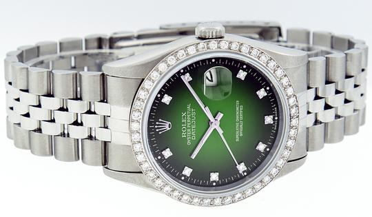 Rolex Mens Datejust Stainless Steel with Diamond Dial Watch Image 7