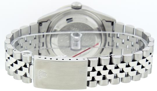 Rolex Mens Datejust Stainless Steel with Diamond Dial Watch Image 8