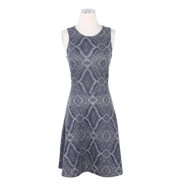 Preload https://img-static.tradesy.com/item/25779300/h-and-m-blue-paisley-print-sleeveless-fit-flare-backless-crew-neck-short-workoffice-dress-size-10-m-0-0-650-650.jpg