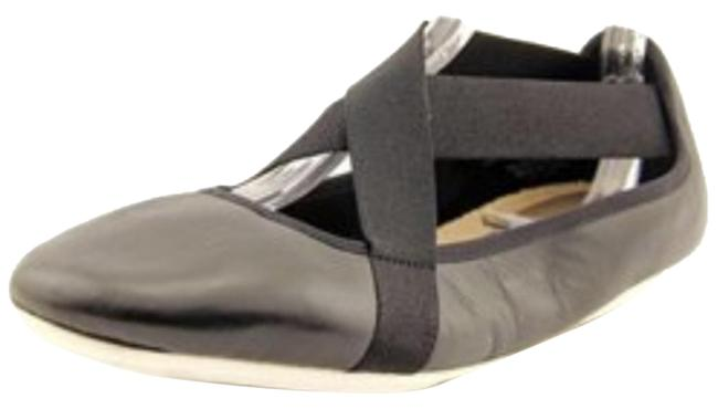 Item - Black and White Yandra Leather Ballet Flats Size US 8.5 Regular (M, B)