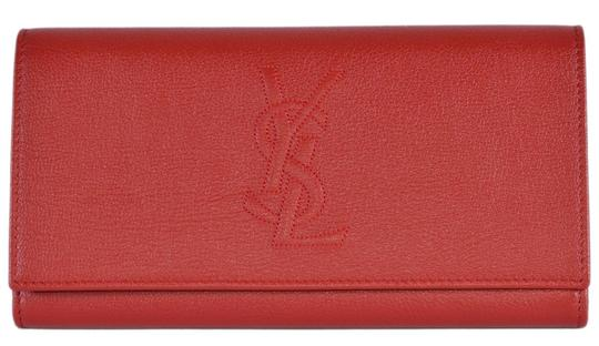 Preload https://img-static.tradesy.com/item/25779384/saint-laurent-red-belle-de-jour-new-ysl-352905-leather-continental-wallet-0-0-540-540.jpg