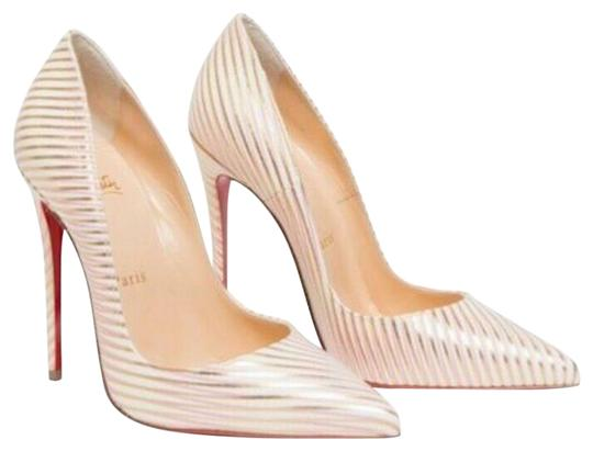 Preload https://img-static.tradesy.com/item/25779387/christian-louboutin-white-so-kate-120-rayoflight-snow-gold-pink-stripe-stiletto-heel-pumps-size-eu-3-0-3-540-540.jpg