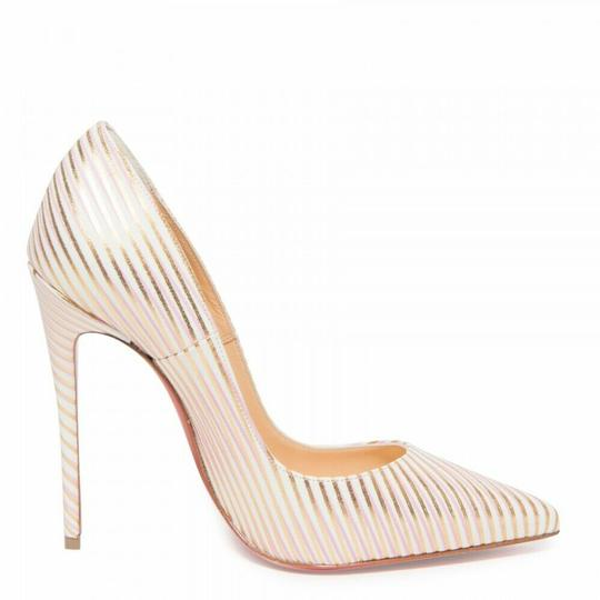 Christian Louboutin Pigalle Follies Stiletto Glitter Sequin white Pumps Image 3