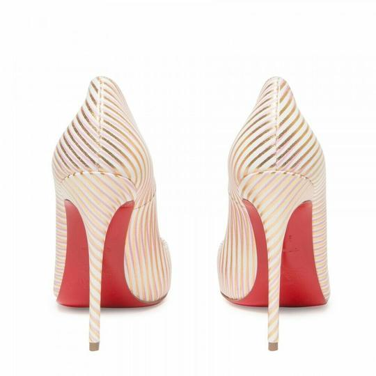 Christian Louboutin Pigalle Follies Stiletto Glitter Sequin white Pumps Image 9