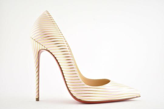 Christian Louboutin Pigalle Follies Stiletto Glitter Sequin white Pumps Image 1