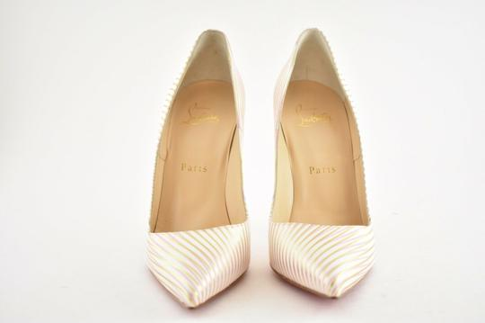 Christian Louboutin Pigalle Follies Stiletto Glitter Sequin white Pumps Image 5