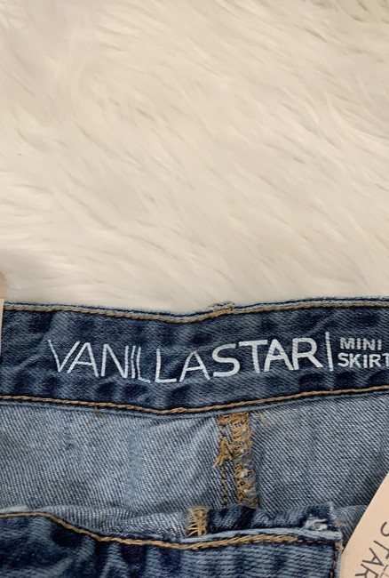 Vanilla Star Mini Skirt Blue Denim Image 3