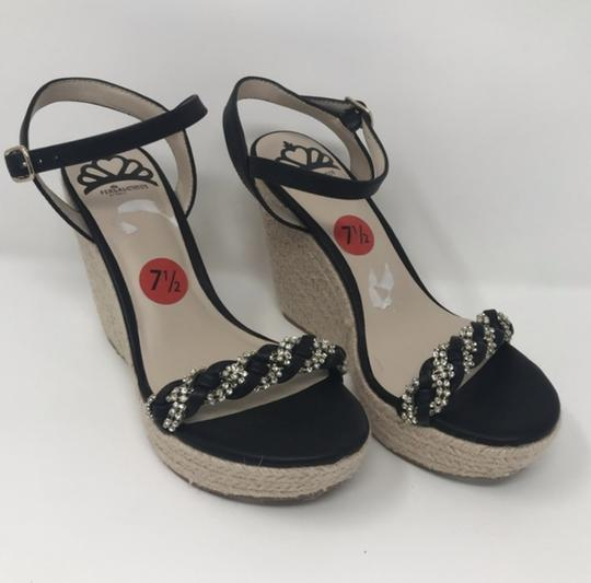 Fergalicious by Fergie Black and Tan Wedges Image 4