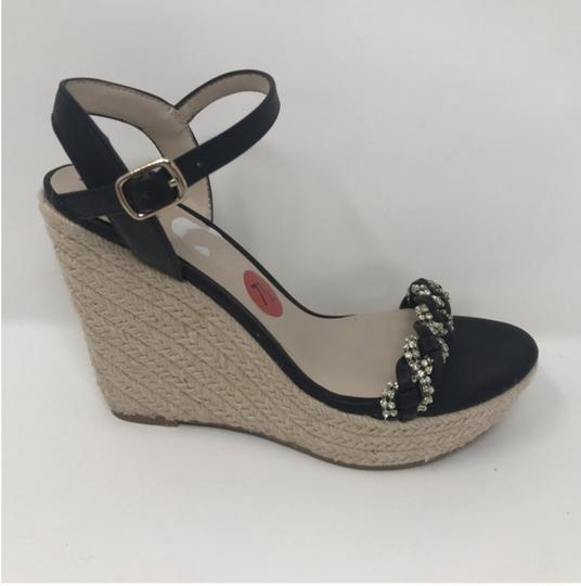 Fergalicious by Fergie Black and Tan Wedges Image 1