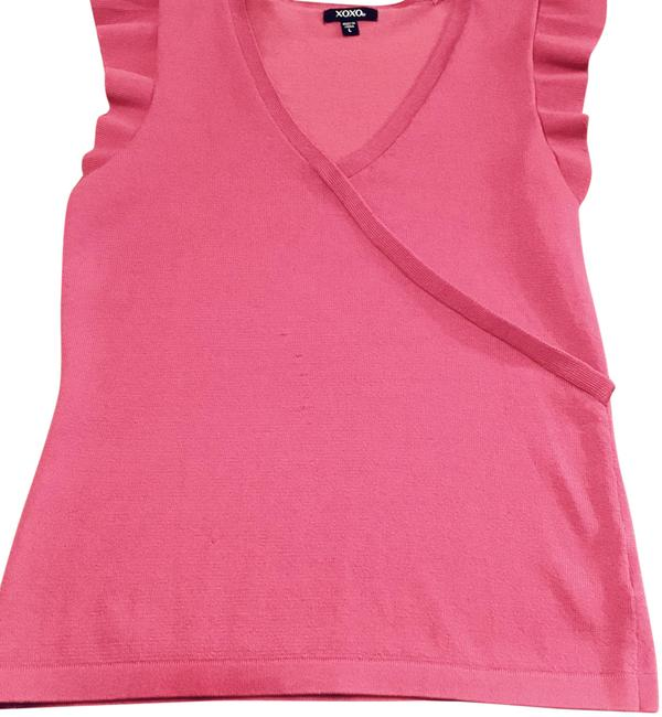 Preload https://img-static.tradesy.com/item/25779447/xoxo-hot-pink-sleeveless-crossover-blouse-size-12-l-0-1-650-650.jpg