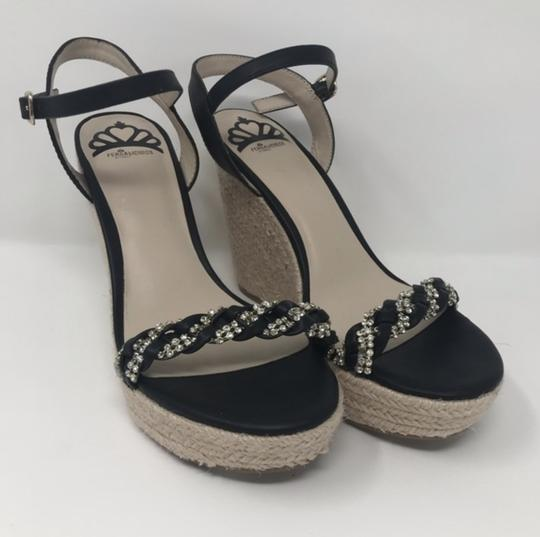 Fergalicious by Fergie Black and Tan Wedges Image 6