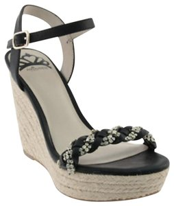 Fergalicious by Fergie Black and Tan Wedges