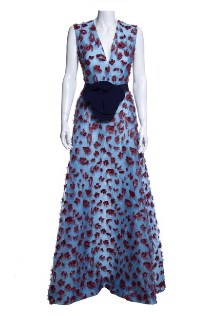 Item - Multicolor Sleeveless with Flower Belt Long Formal Dress Size 2 (XS)