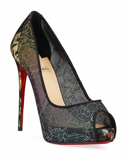 Christian Louboutin Pigalle Follies Stiletto Glitter Classic black Pumps Image 0