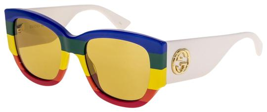 Preload https://img-static.tradesy.com/item/25779566/gucci-white-rainbow-stripe-0276-brown-geometric-gg0276s-sunglasses-0-3-540-540.jpg