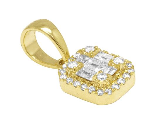 Jewelry Unlimited 14K Yellow Gold Real Diamond Ladies Baguette Octagon Pendant 0.5 CT Image 1