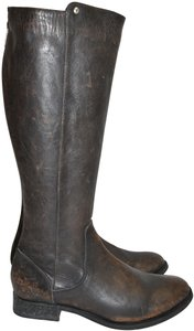 Frye Ridiing STONE TUMBLED BLACK Boots